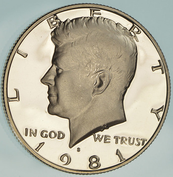 1981-S San Francisco Minted Proof Kennedy Half Dollar