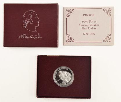 1982-S Silver DCAM Proof George Washington Commemorative Half Dollar in its Original U.S. Mint Packaging - Legal Tender