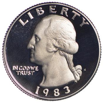 1983-S PROOF Washington Quarter - San Francisco Minted