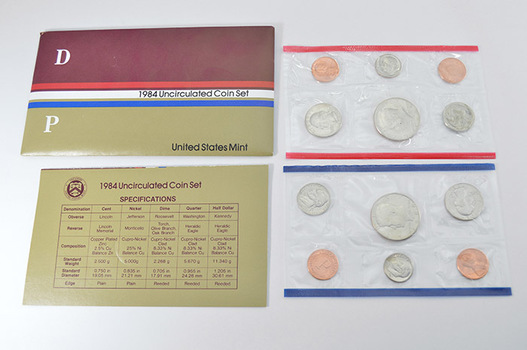 1984 Official U.S. Uncirculated Coin Mint Set - 10 Coins P & D