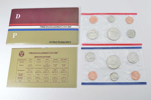 1984 Official U.S. Uncirculated Coin Mint Set - 10 Coins P & D