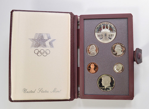 1984 Olympic Prestige Deep Cameo Proof Set as Issued by the U.S. Mint - Includes Olympic Silver Dollar