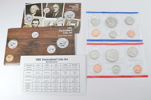 1985 U.S. Mint Set - 10 Coins Total in Original Envelope