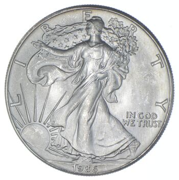 1986 American Silver Eagle - 1 Oz. Silver - Charles Coin Collection