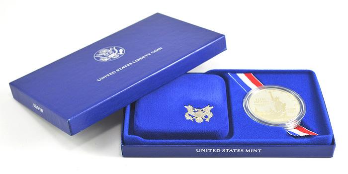 1986 United States Liberty Coin Commemorative Proof Silver Dollar w/ Box & COA