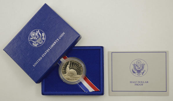 1986-S 50C Statue Of Liberty PROOF US Commemorative Half Dollar in Original Packaging