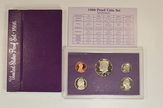 1986-S Deep Cameo U.S. Proof Set - Lowest Mintage Year of 1980s