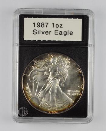 1987 American Silver Eagle - 1 Oz. - Slabbed CoinWorld
