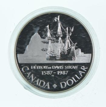 1987 Canada BEAUTIFUL Silver Dollar Coin .500 Silver 50%