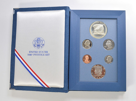 1987 Constitution Prestige Deep Cameo Proof Set as Issued by the U.S. Mint - Includes Constitution Silver Dollar