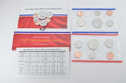 1987 U.S. Mint Set - 10 Coins in Original Envelope