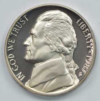 1987-S Proof CAMEO - Jefferson Nickel - San Francisco Minted