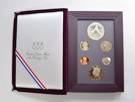 1988 Olympic Prestige Deep Cameo Proof Set as Issued by the U.S. Mint - Includes Olympic Silver Dollar