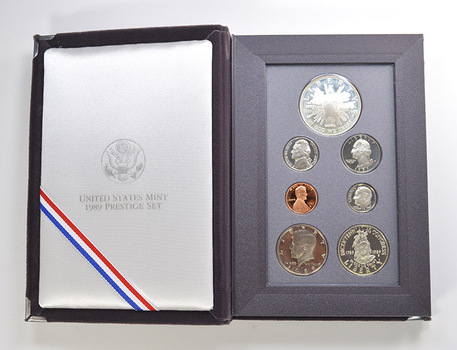 1989 Congressional US Mint - Prestige Proof Set - Includes Congressional Commemorative Silver Dollar & Half Dollar
