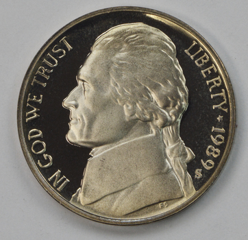 1989-S Proof CAMEO - Jefferson Nickel - San Francisco Minted