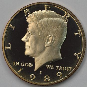 1989-S San Francisco Minted Proof Kennedy Half Dollar