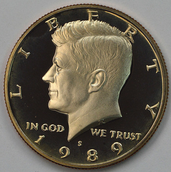 1989-S San Francisco Minted Proof Kennedy Half Dollar