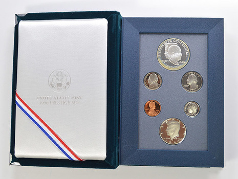 1990 Eisenhower US Mint - Prestige Proof Set - Includes Eisenhower Commemorative Silver Dollar