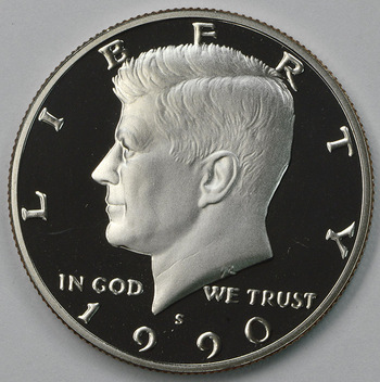 1990-S San Francisco Minted Proof Kennedy Half Dollar