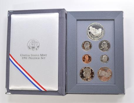 1991 Mt. Rushmore US Mint - Prestige Proof Set - Includes Mt. Rushmore Commemorative Silver Dollar & Half Dollar