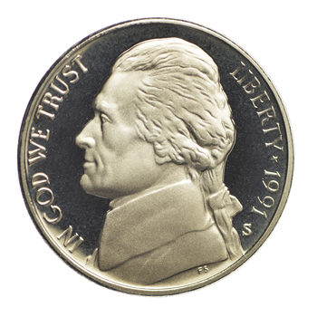 1991-S Proof CAMEO - Jefferson Nickel - San Francisco Minted