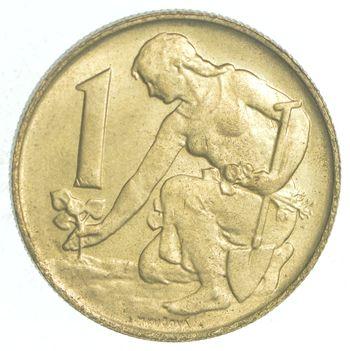 1992 Czechoslovakia 1 Koruna