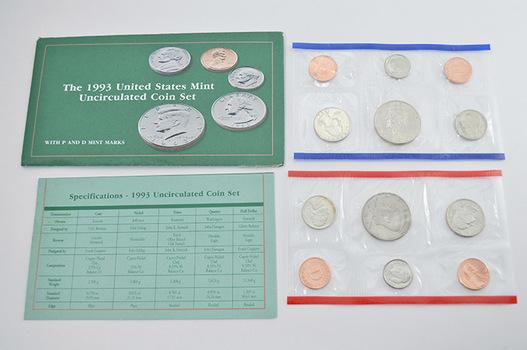 1993 U.S. Mint Set - 10 Coins Total in Original Envelope