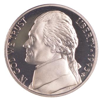 1993-S San Francisco Mint Jefferson Nickel Proof