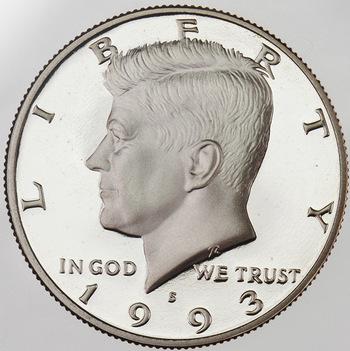 1993-S San Francisco Minted Proof Kennedy Half Dollar