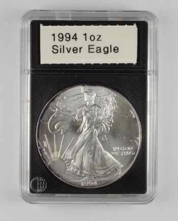 1994 American Silver Eagle - 1 Oz. - Slabbed CoinWorld