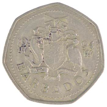 1994 Barbados 1 Dollar