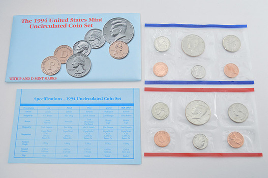 1994 United States Mint Uncirculated Coin Set - 10 Coins