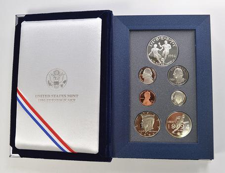 1994 World Cup Soccer US Mint - Prestige Proof Set - Includes World Cup Soccer Commemorative Silver Dollar & Half Dollar