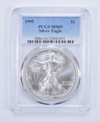 1995 American Silver Eagle MS-69 1 Troy Oz PCGS Graded