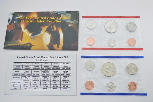 1995 Official U.S. Mint Set - 10 BU Coins P and D