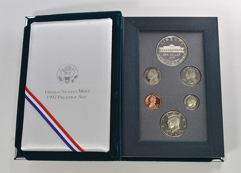 1997 Botanic Gardens US Mint - Prestige Proof Set - Includes Botanic Gardens Commemorative Silver Dollar