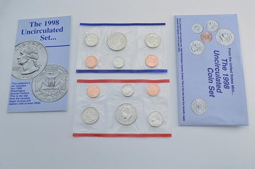 1998 Official U.S. Uncirculated Coin Mint Set - 10 Coins P & D