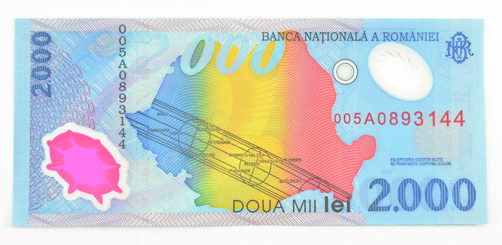 1999 Romania 2,000LeiSolarNote-Printed OnPolymer-Uncirculated Bank Note