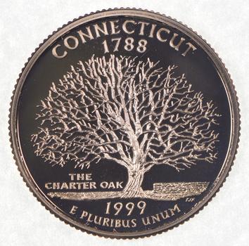 1999-S Connecticut State Washington Quarter - Proof Cameo