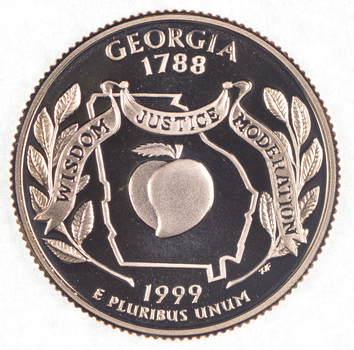 1999-S Georgia State Washington Quarter - Proof Cameo