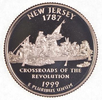 1999-S New Jersey State Washington Quarter - Proof Cameo