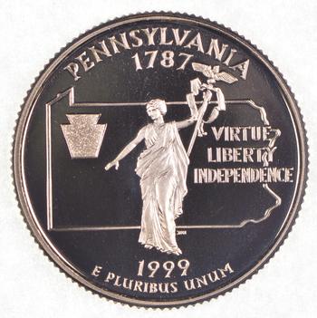 1999-S Pennsylvania State Washington Quarter - Proof Cameo