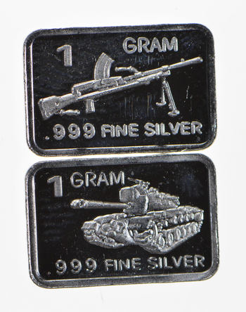 (2) Limited Edition 1 Gram .999 Fine Silver Pieces - Great collection!