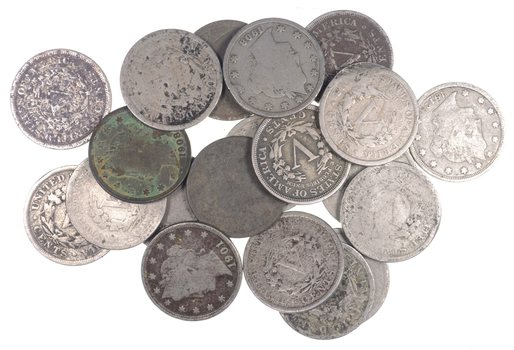 20 Coins Lot 1900-1912 Liberty V Nickel US Coin Collection Half Roll