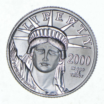2000 $10.00 1/10 Oz Platinum American Eagle