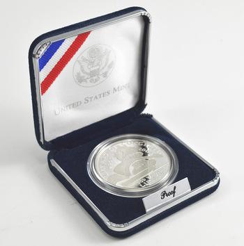 2000 Library Of Congress Commemorative Proof Silver Dollar w/ Box & COA