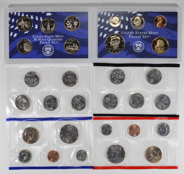 2000 US Proof & Mint Sets - Coin Collection Bundle - 2 Sets - 1 Price