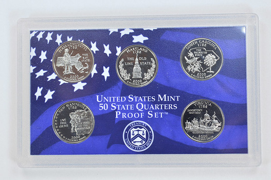 2000-S 5 Coin State Quarter Proof Set