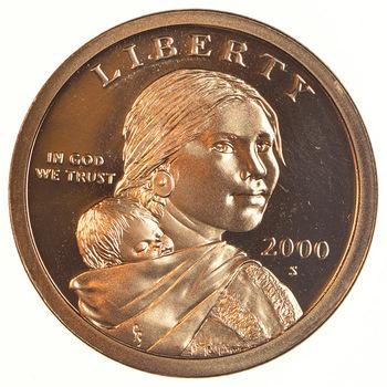 2000-S Proof Deep Cameo Sacagawea Golden Dollar