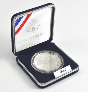 2001 Smithsonian American Buffalo Commemorative Proof Silver Dollar w/ Box & COA
